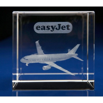 Picture of AIRCRAFT - ANY AVIATION MODEL ENGRAVED in 3d Within Crystal