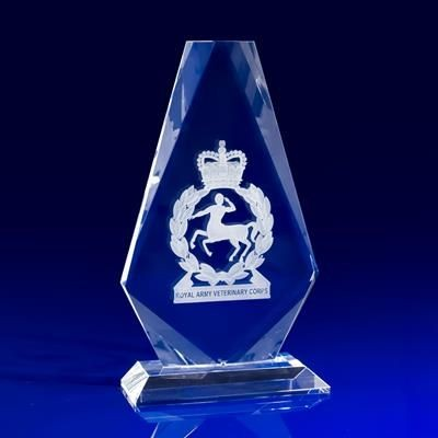 Picture of CRYSTAL GLASS ARMED FORCES PAPERWEIGHT OR AWARD