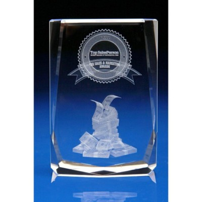 Picture of FINANCIAL AWARDS & PAPERWEIGHT GIFT IDEAS in Crystal Glass