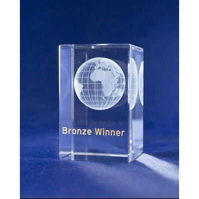Picture of BRONZE AWARD & PAPERWEIGHT GIFT in Crytsal Glass