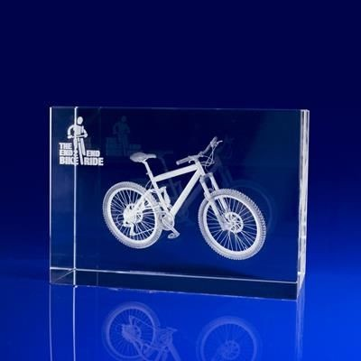 Picture of CYCLING AWARDS OR MEDAL GIFT IDEAS in Crystal Glass