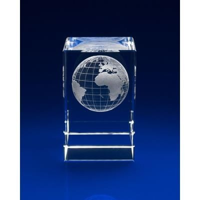 Picture of CRYSTAL GLASS GLOBE PAPERWEIGHT OR AWARD