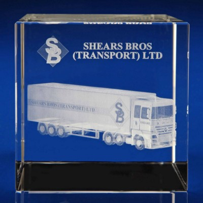 Picture of CRYSTAL GLASS FREIGHT PAPERWEIGHT OR AWARD