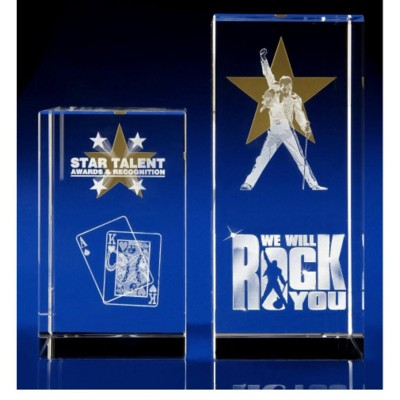Picture of CRYSTAL GLASS GOLD STAR AWARD
