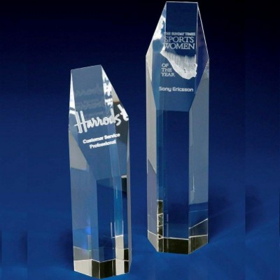 Picture of CRYSTAL GLASS HEXAGON AWARD OR TROPHY AWARD
