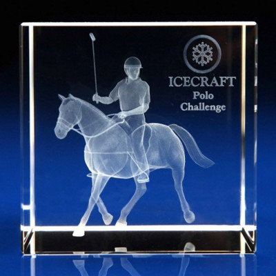 Picture of CRYSTAL GLASS HORSE PAPERWEIGHT OR AWARD