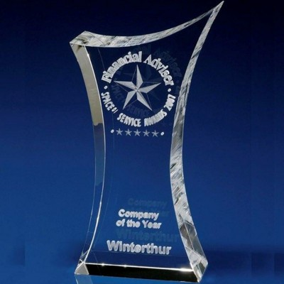 Picture of CRYSTAL GLASS 3D SCULPTURED AWARD OR TROPHY AWARD