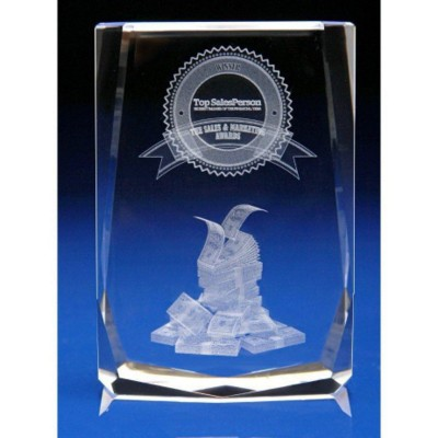 Picture of CRYSTAL GLASS RETAIL PAPERWEIGHT OR AWARD