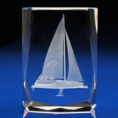 Picture of CRYSTAL SAILING AWARD & PAPERWEIGHT GIFT IDEAS