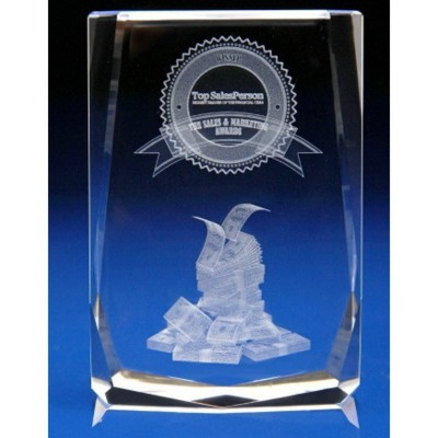 Picture of CRYSTAL GLASS SALES PAPERWEIGHT OR AWARD