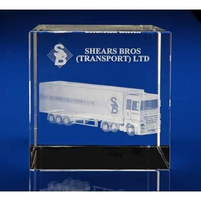 Picture of CRYSTAL GLASS SHIPPING PAPERWEIGHT OR AWARD