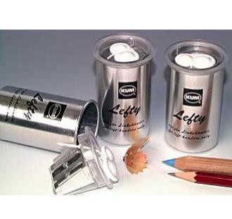 Picture of LEFTY DOUBLE ALUMINIUM CAN PENCIL SHARPENER in Silver Finish