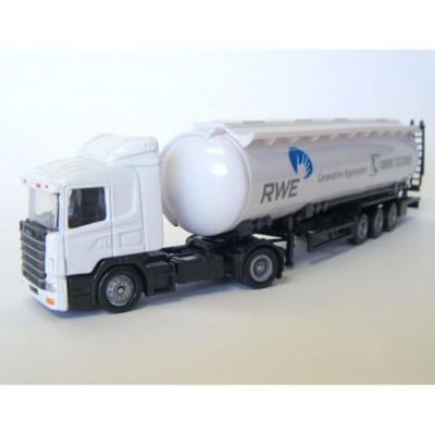 Picture of ARTICULATED TRUCK AND TANKER TRAILER MODEL in White