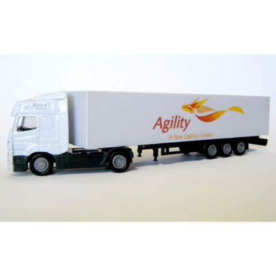 Picture of ARTICULATED TRUCK AND TRAILER MODEL in White