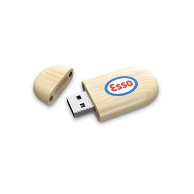 Picture of OVAL WOOD USB FLASH DRIVE