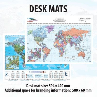 Picture of A2 DESKMAT MAP