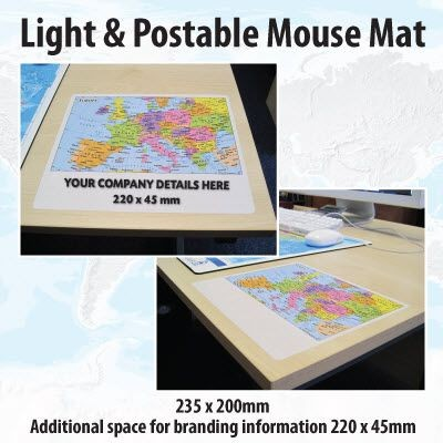 Picture of LIGHT AND POSTABLE MAP MOUSEMAT