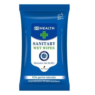 Picture of ANTIBACTERIAL WET WIPE TISSUE PACK - 10 PACK