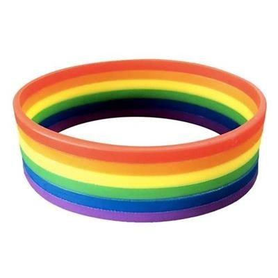 Picture of RAINBOW SILICON WRIST BAND