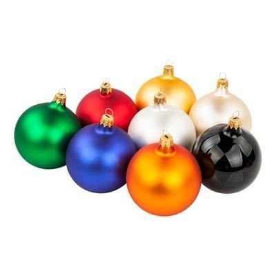 Picture of GLASS CHRISTMAS BAUBLES