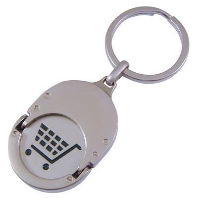Picture of OVAL TROLLEY COIN KEYRINGS