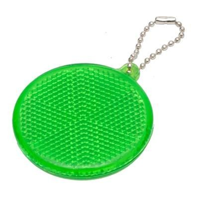 Picture of ROUND HARD REFLECTIVE KEYRING