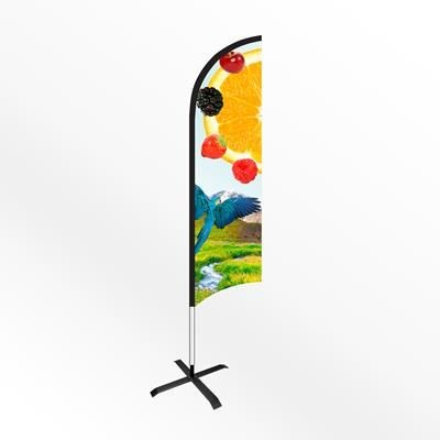 Picture of LARGE FEATHER FLAG BANNER with Cross Base
