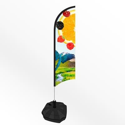 Picture of X LARGE FEATHER FLAG BANNER with Water or Sand Base