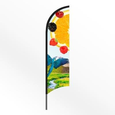 Picture of LARGE FEATHER FLAG BANNER with Spiked Base