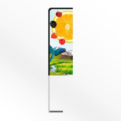 Picture of LARGE URBAN RECTANGULAR PORTABLE FLAG BANNER with Car Base