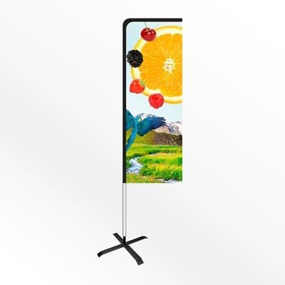 Picture of LARGE URBAN RECTANGULAR PORTABLE FLAG BANNER with Cross Base