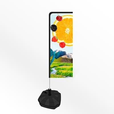 Picture of SMALL URBAN RECTANGULAR PORTABLE FLAG BANNER with Water or Sand Base