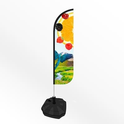 Picture of SMALL ROUND FEATHER FLAG BANNER with Water or Sand Base