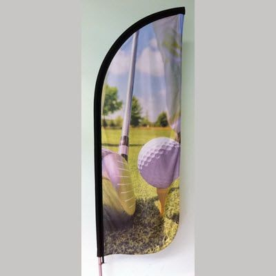 Picture of X LARGE ROUND FEATHER FLAG BANNER with Water or Sand Base