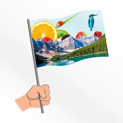 Picture of LARGE SYNTHETIC PAPER HAND WAVING FLAG