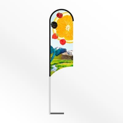 Picture of LARGE WING FEATHER FLAG BANNER with Car Base