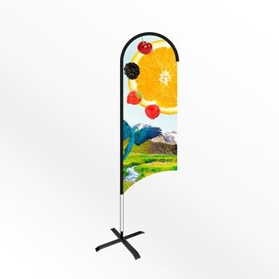 Picture of LARGE WING FEATHER FLAG BANNER with Cross Base