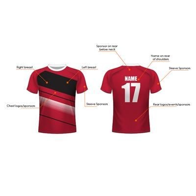 Picture of FULLY BESPOKE SUBLIMATED FOOTBALL SHIRT