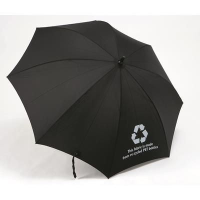 Picture of PRO BRELLA RECYCLED GOLF UMBRELLA in Black