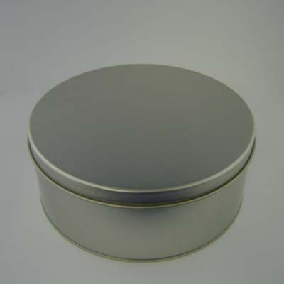 Picture of ROUND SWEETS TIN in Matt Silver