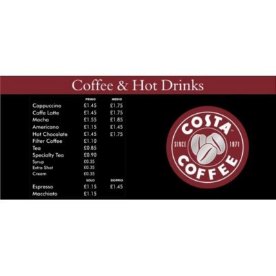 Picture of COFFEE MENU SIGN BOARD