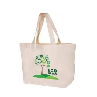 Picture of WINDSOR LUXURY 12OZ NATURAL HEAVY COTTON SHOPPER TOTE BAG FOR LIFE