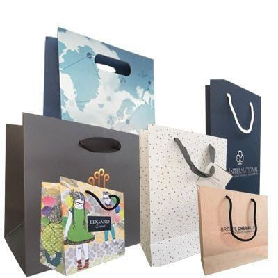 Picture of ECO BIODEGRADABLE MATT GLOSS LAMINATED PAPER BAG with Rope Handles