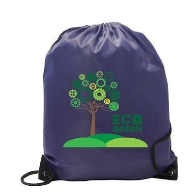 Picture of BURTON RECYCLABLE POLYESTER DRAWSTRING GYMSAC BAG in Navy Blue