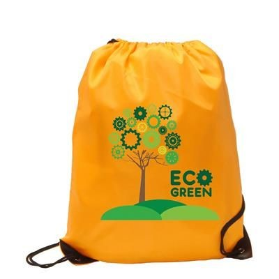 Picture of BURTON RECYCLABLE POLYESTER DRAWSTRING GYMSAC BAG in Orange