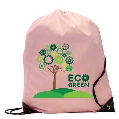 Picture of BURTON RECYCLABLE POLYESTER DRAWSTRING GYMSAC BAG in Pink