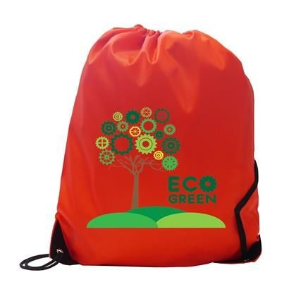 Picture of BURTON RECYCLABLE POLYESTER DRAWSTRING GYMSAC BAG in Red