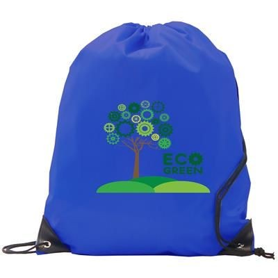 Picture of BURTON RECYCLABLE POLYESTER DRAWSTRING GYMSAC BAG in Royal Blue