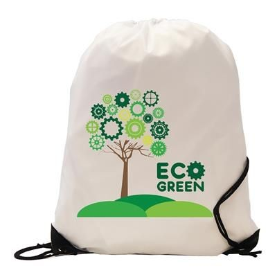Picture of BURTON RECYCLABLE POLYESTER DRAWSTRING GYMSAC BAG in White