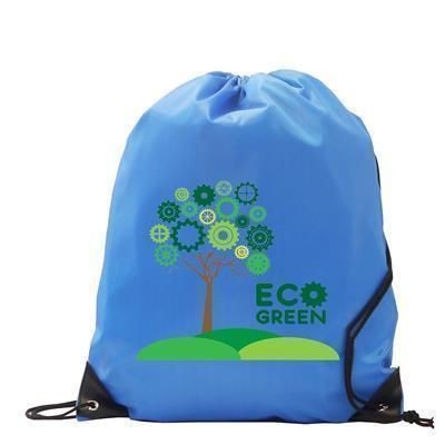 Picture of 210D CHILDRENS RECYCLABLE BURTON POLYESTER GYMSACK DRAWSTRING BAG